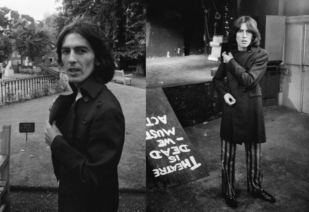 George Harrison on the Beatles' Mad Day Out photo shoot, July 28th, 1968.