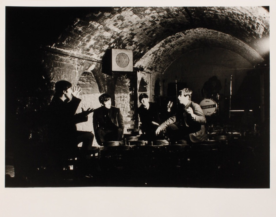 Rare shot of the Beatles hanging out in the Cavern, circa 1962.
