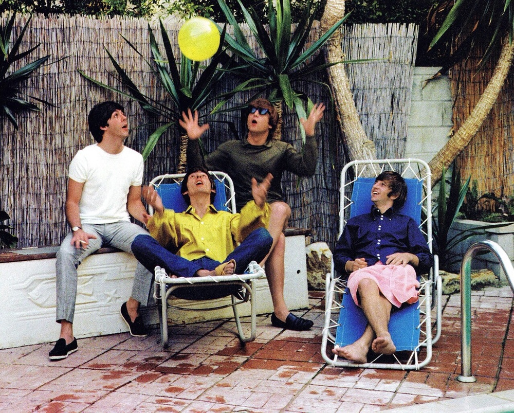 The Beatles in Bel Air, California, August 1964.
