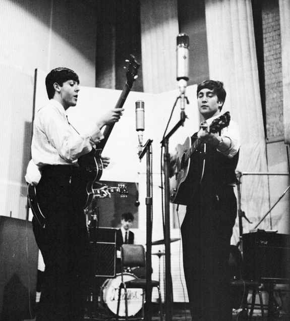 The Beatles at Abbey Road, September 1962.