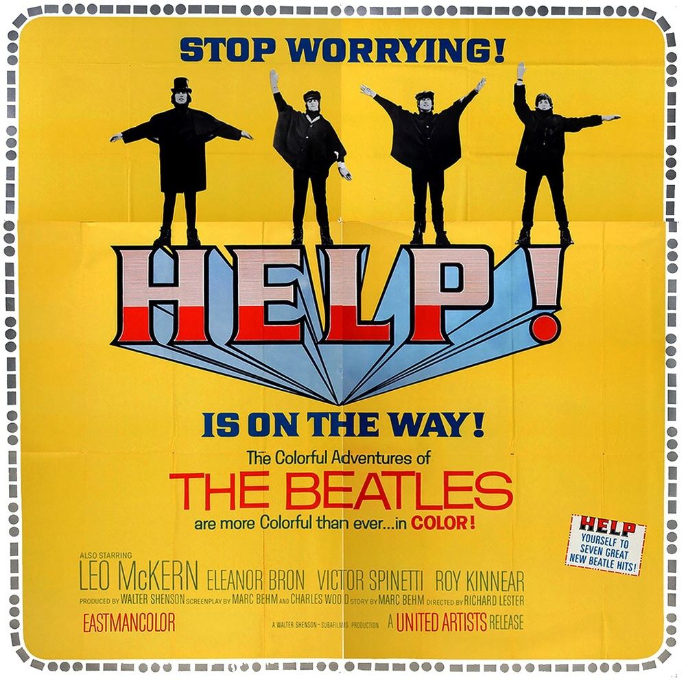 Poster for the Beatles' Help! 1965.
