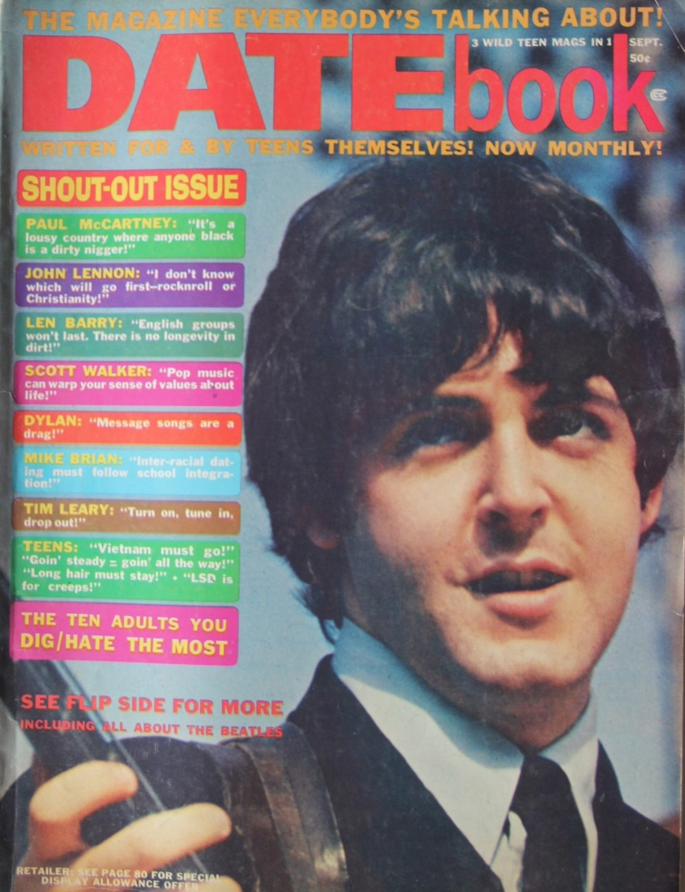 The infamous Datebook magazine issue, 1966.