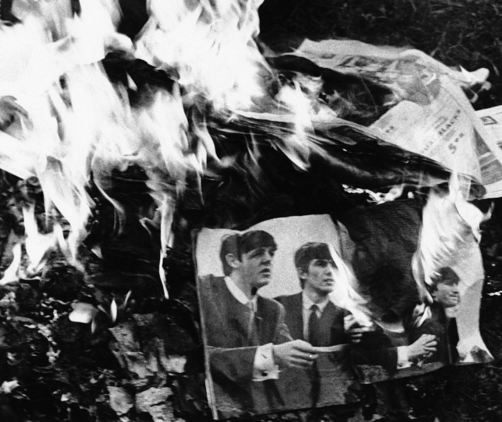 One of a number of Beatles bonfires across the American bible-belt, 1966.