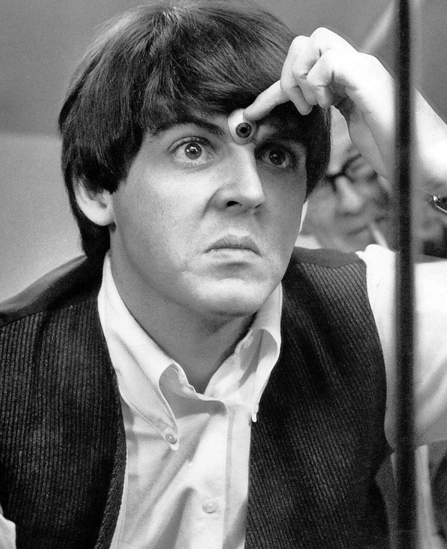 Paul McCartney at Madame Tussauds, London, April 1964.
