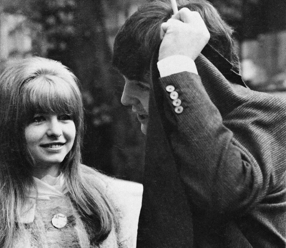 Paul McCartney and Jane Asher, circa 1964.