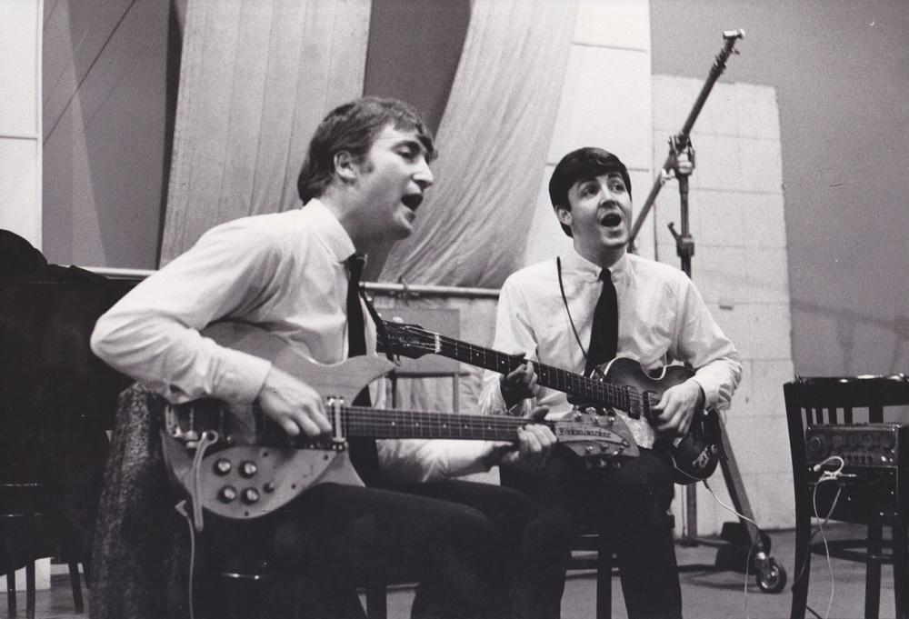 John Lennon and Paul McCartney at Abbey Road Studios, September 4th, 1962.