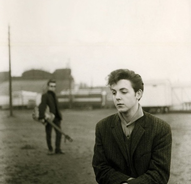 Paul McCartney and Stuart Sutcliffe in Hamburg, 1960. Photo by Astrid Kirchherr.
