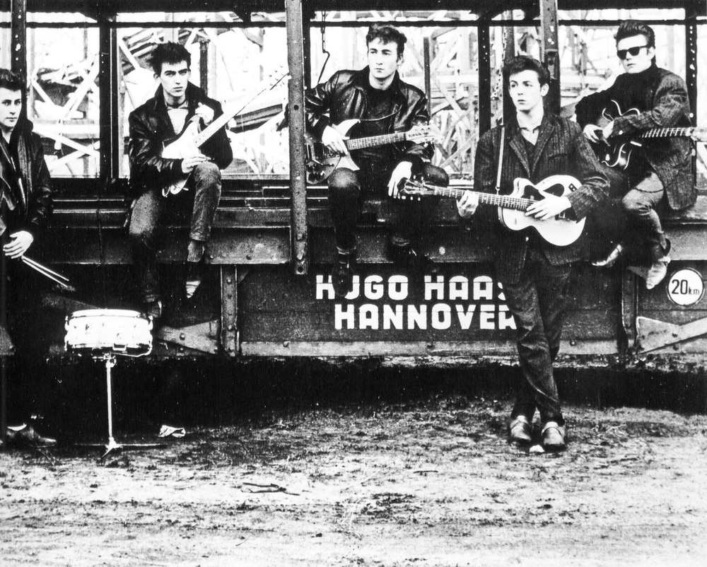 The Beatles in Hamburg, 1960.