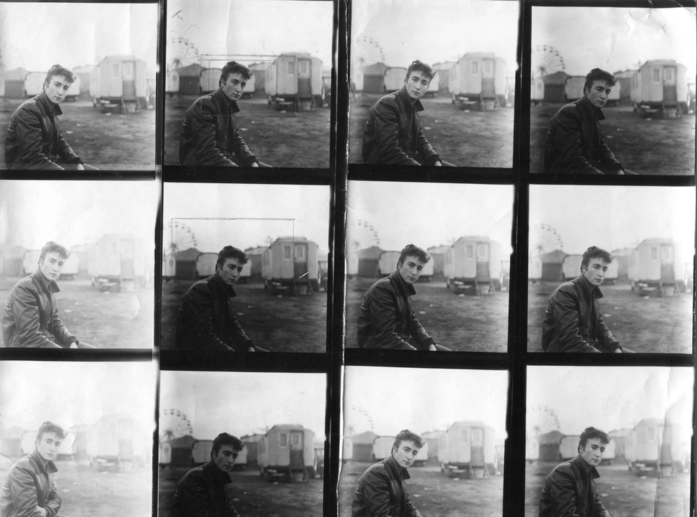 John Lennon in Hamburg, 1960. Photos by Astrid Kirchherr.
