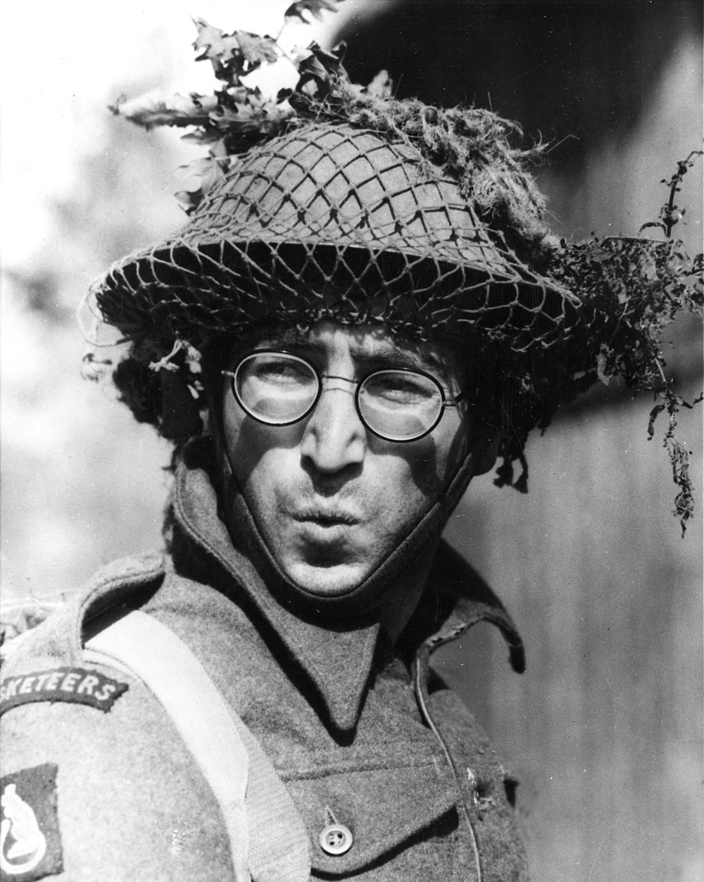 John Lennon on the set of How I Won the War as Private Gripweed, 1966.