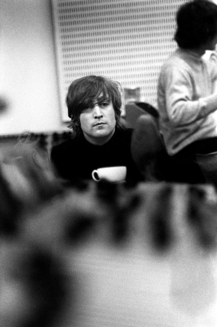 John Lennon Taking A Tea Break From Recording