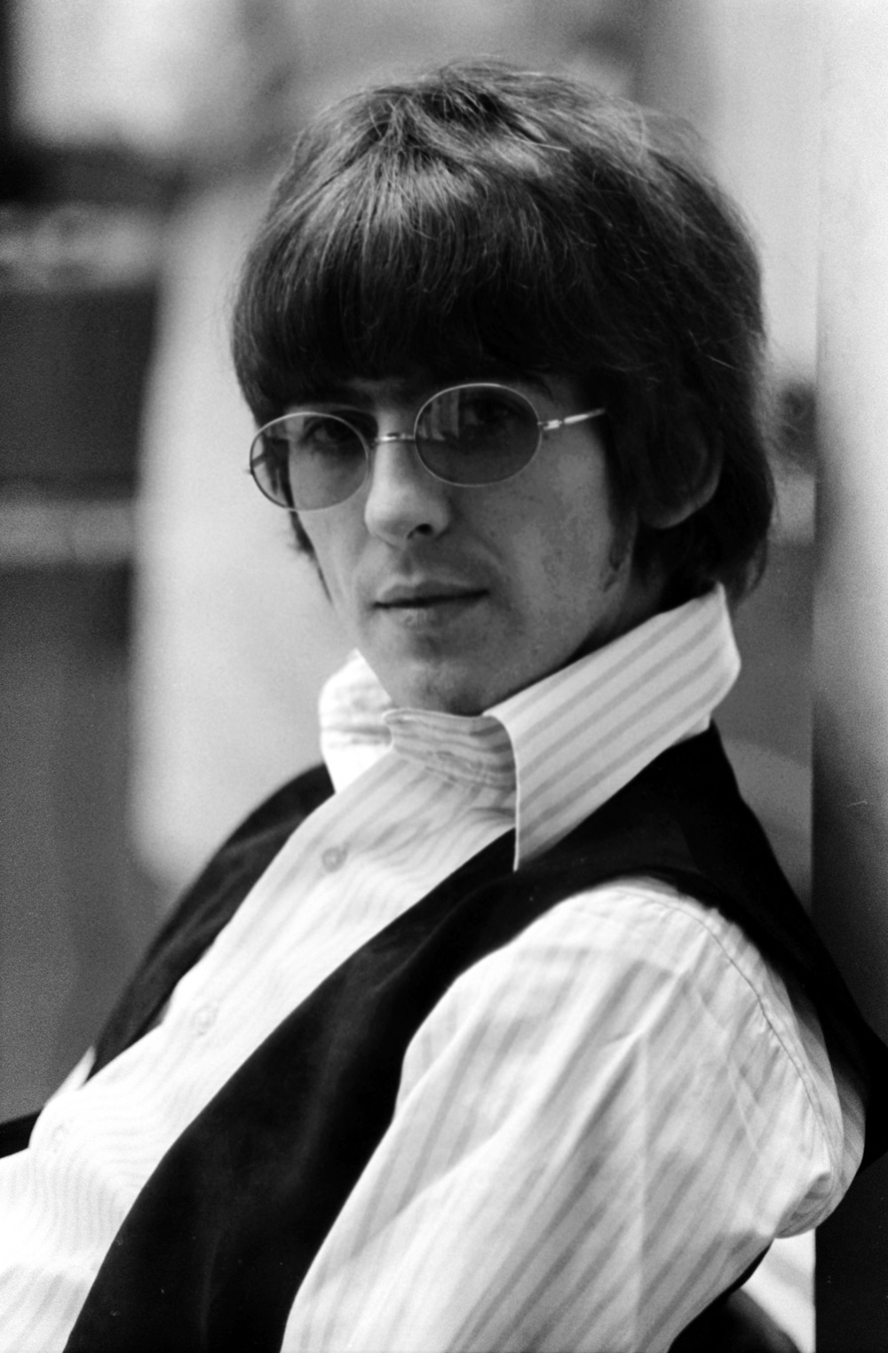 George Harrison looking suave while recording Revolver, 1966.