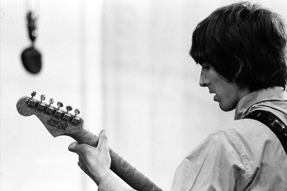 George Harrison recording Revolver, 1966.