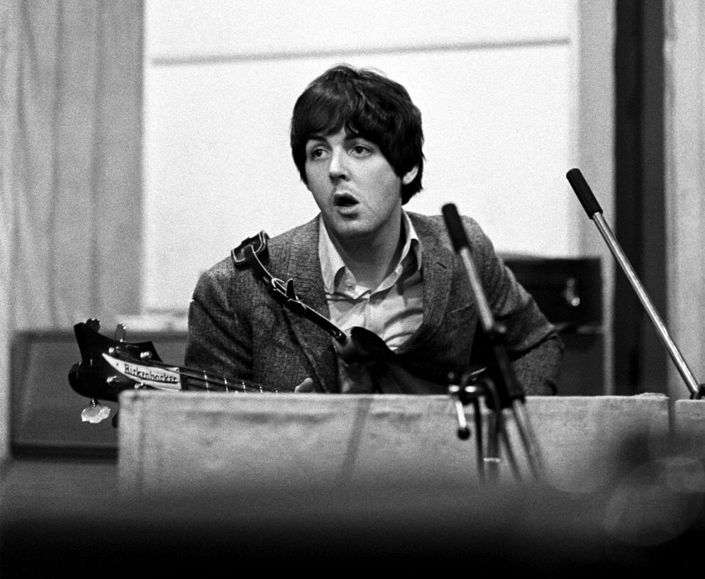 Paul McCartney recording Revolver, 1966.