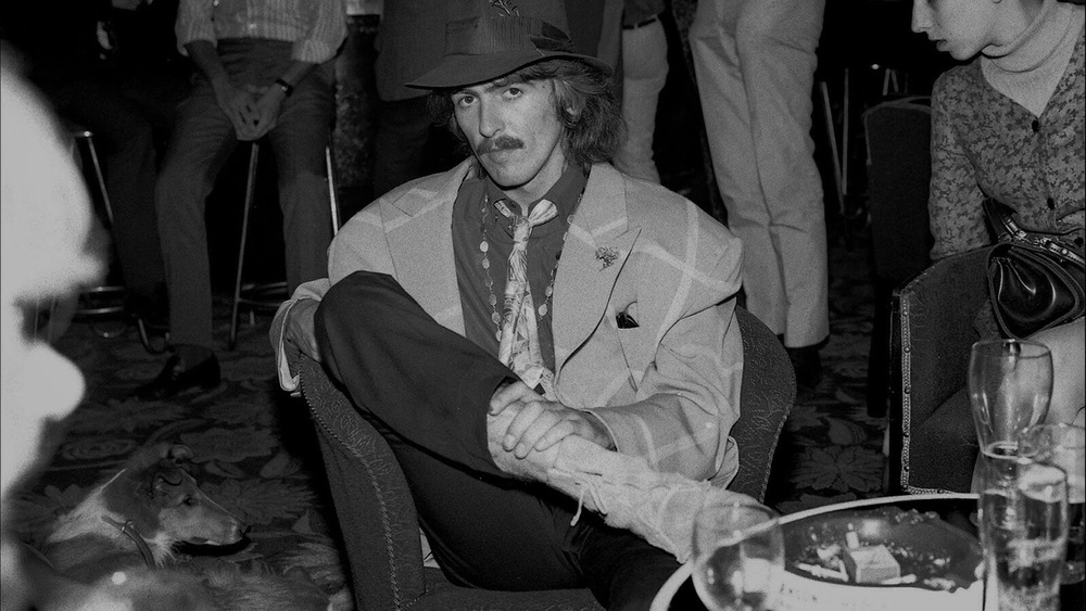 George Harrison on the set of Magical Mysery Tour, 1967.