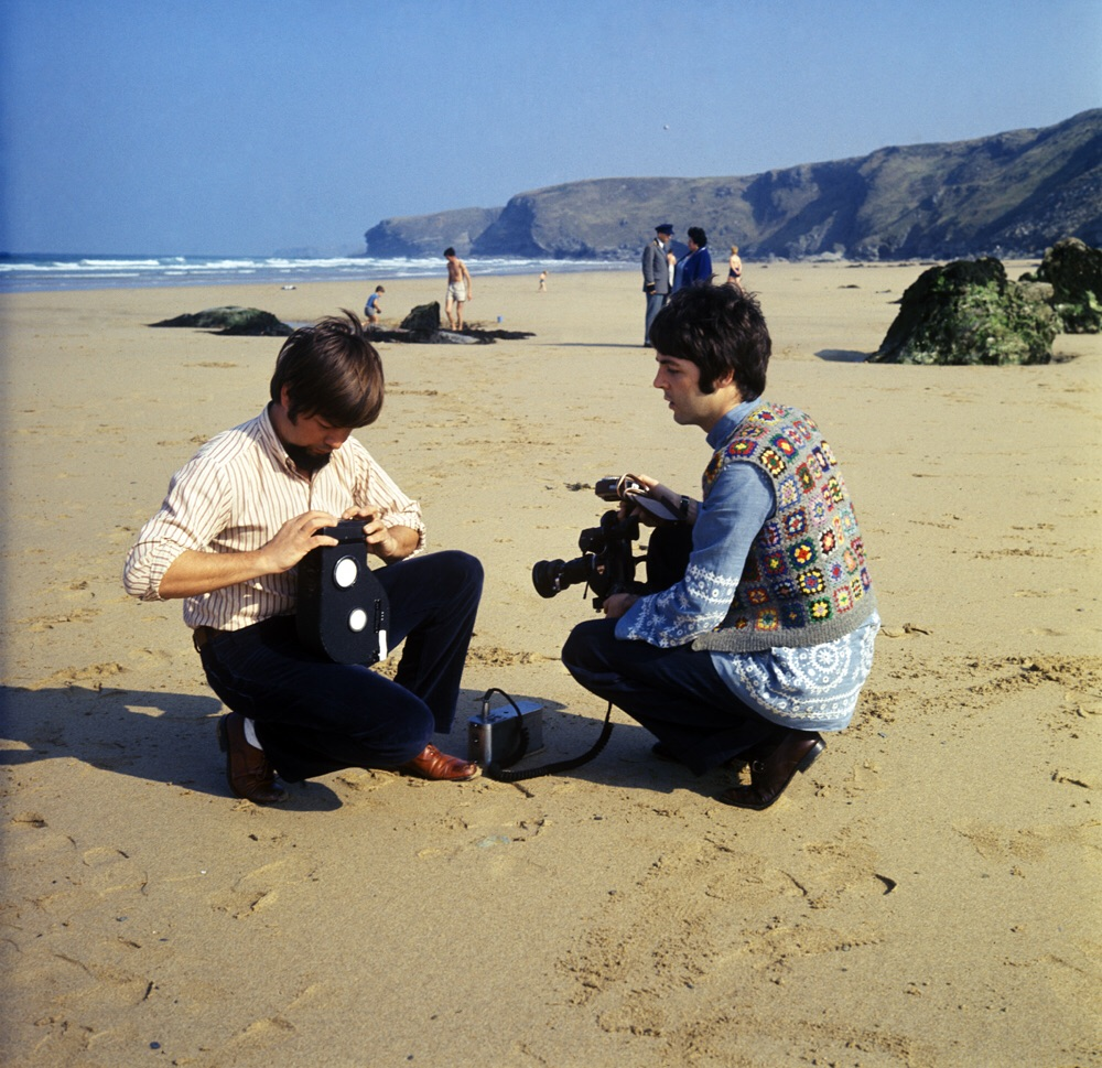 Paul McCartney filming Magical Mysery Tour, 1967.