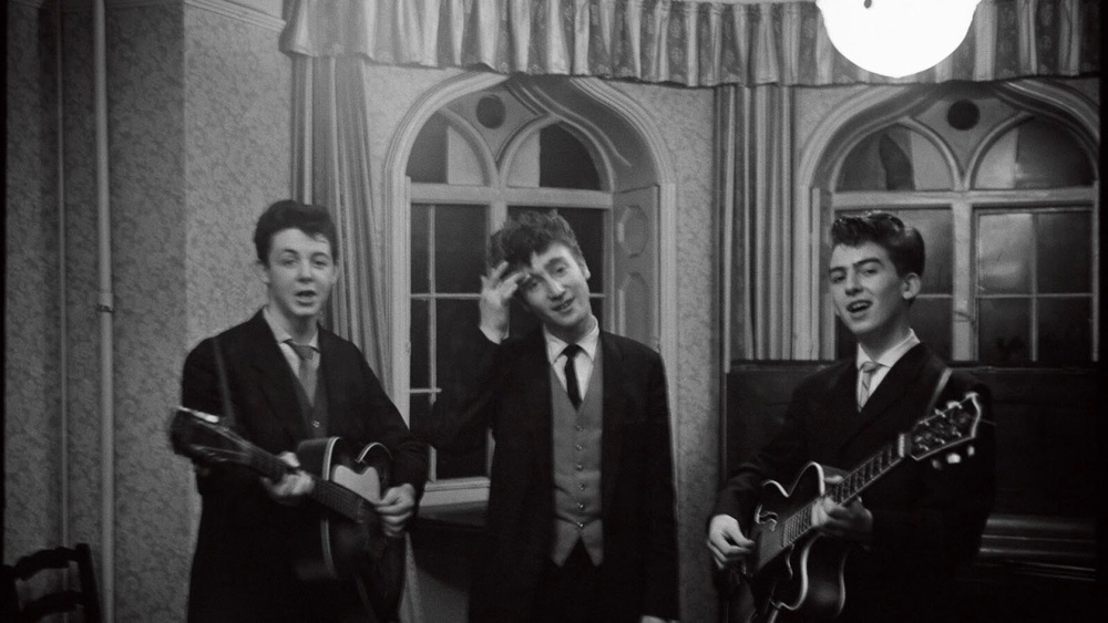Paul McCartney, John Lennon and George Harrison circa 1958.