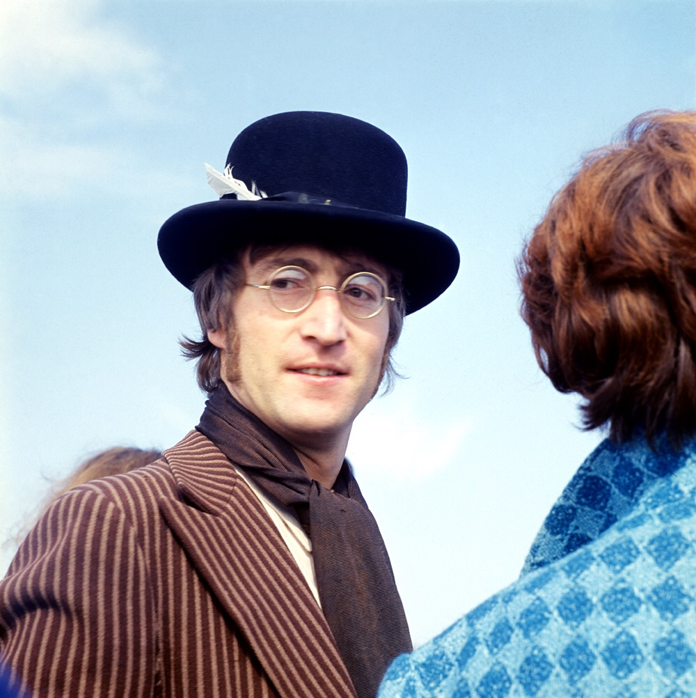 John Lennon on the set of Magical Mystrey Tour, 1967.