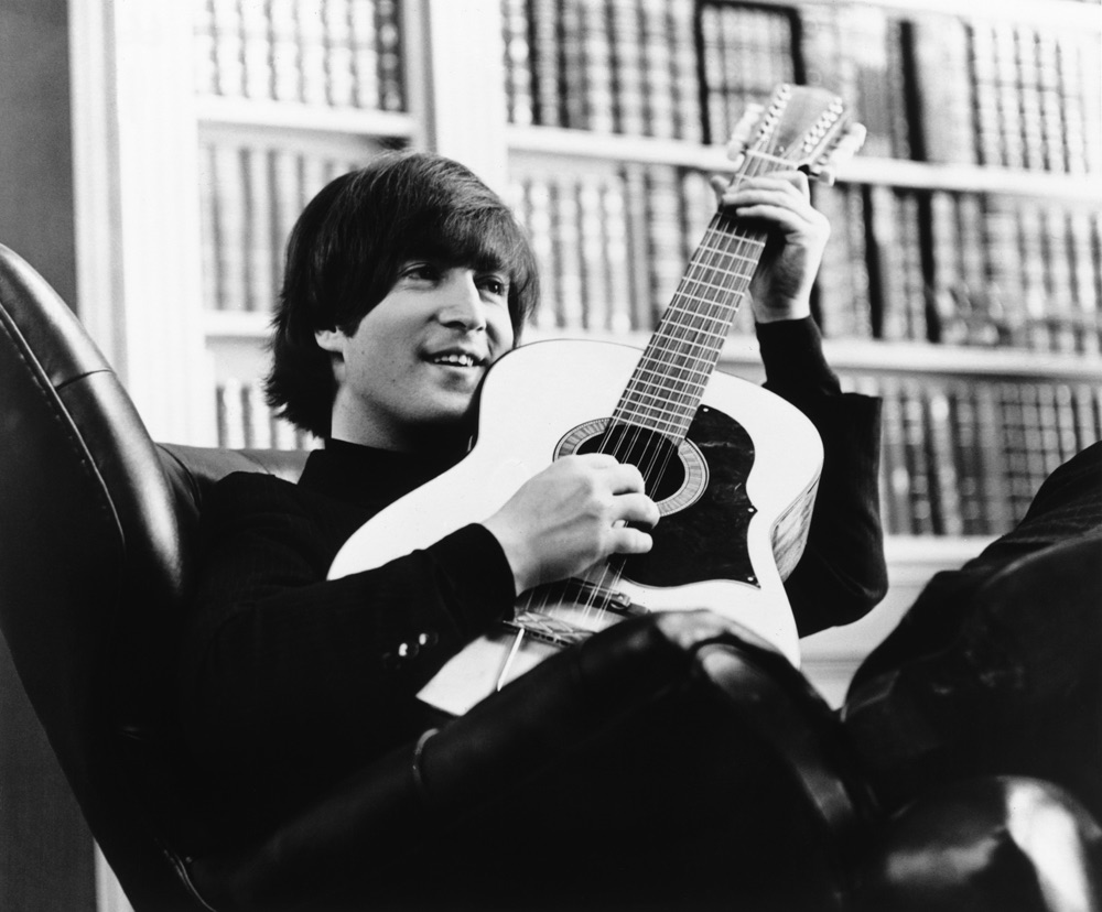 John Lennon performing 'You've Got to Hide Your Love Away' for 'Help!', 1965.