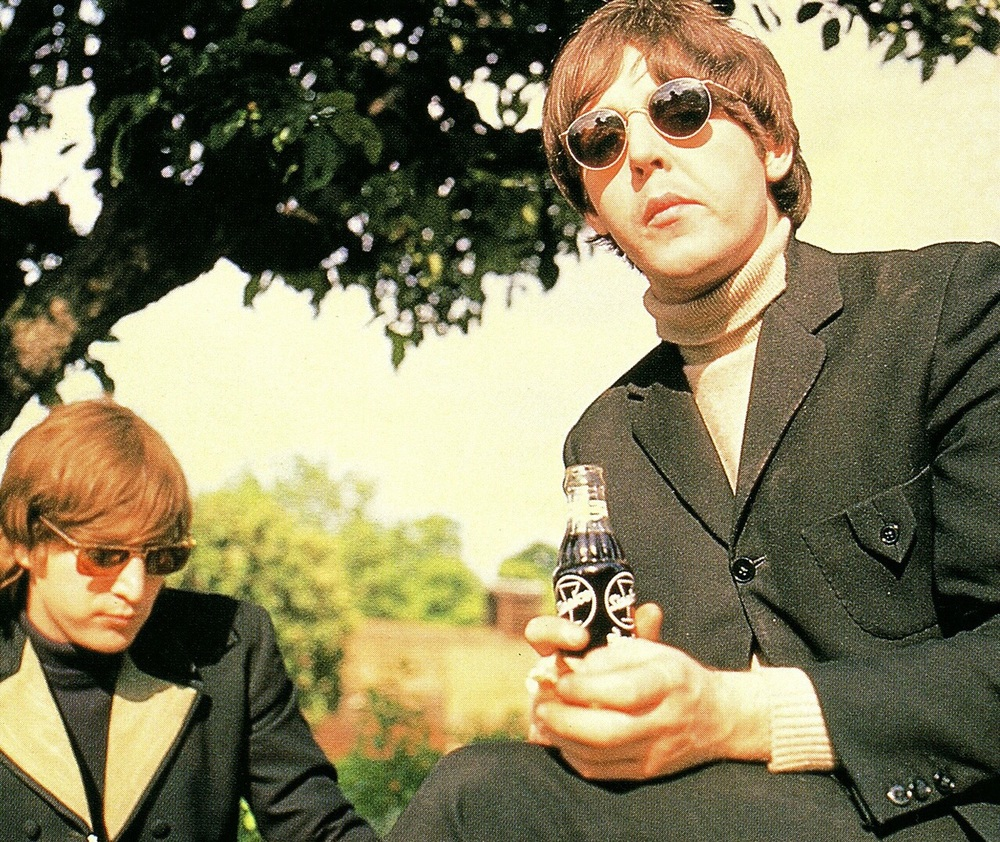 John Lennon and Paul McCartney at Chiswick House, May 20th, 1966.