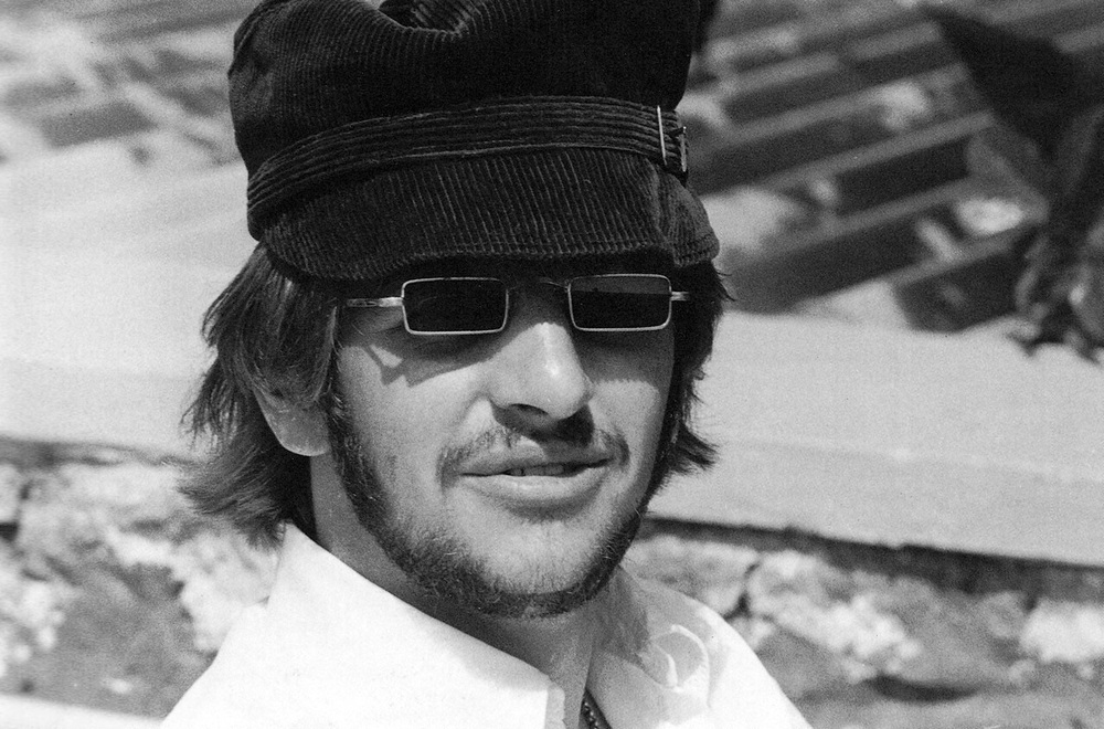 Ringo Starr with a pair of awesome looking shades, 1966.