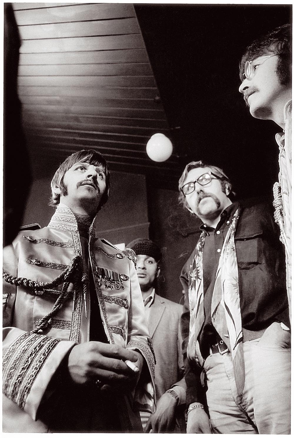 Ringo Starr, Mal Evans and John Lennon, March 1967.