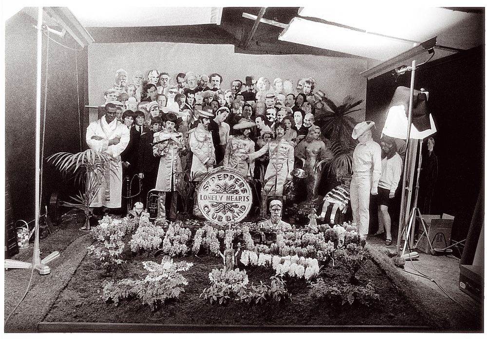 Setting up the shot for the Sgt. Pepper cover, March 1967.