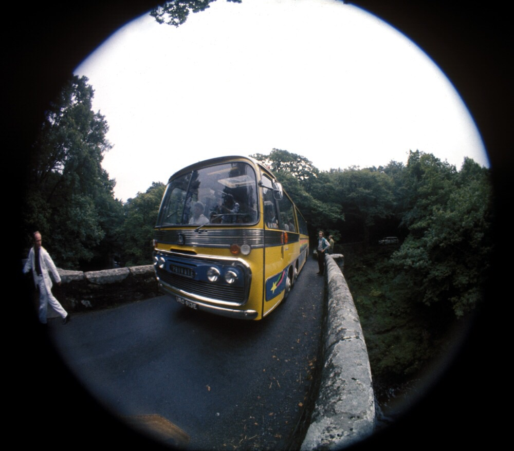 The Magical Mystery Tour bus is waiting to take you away.