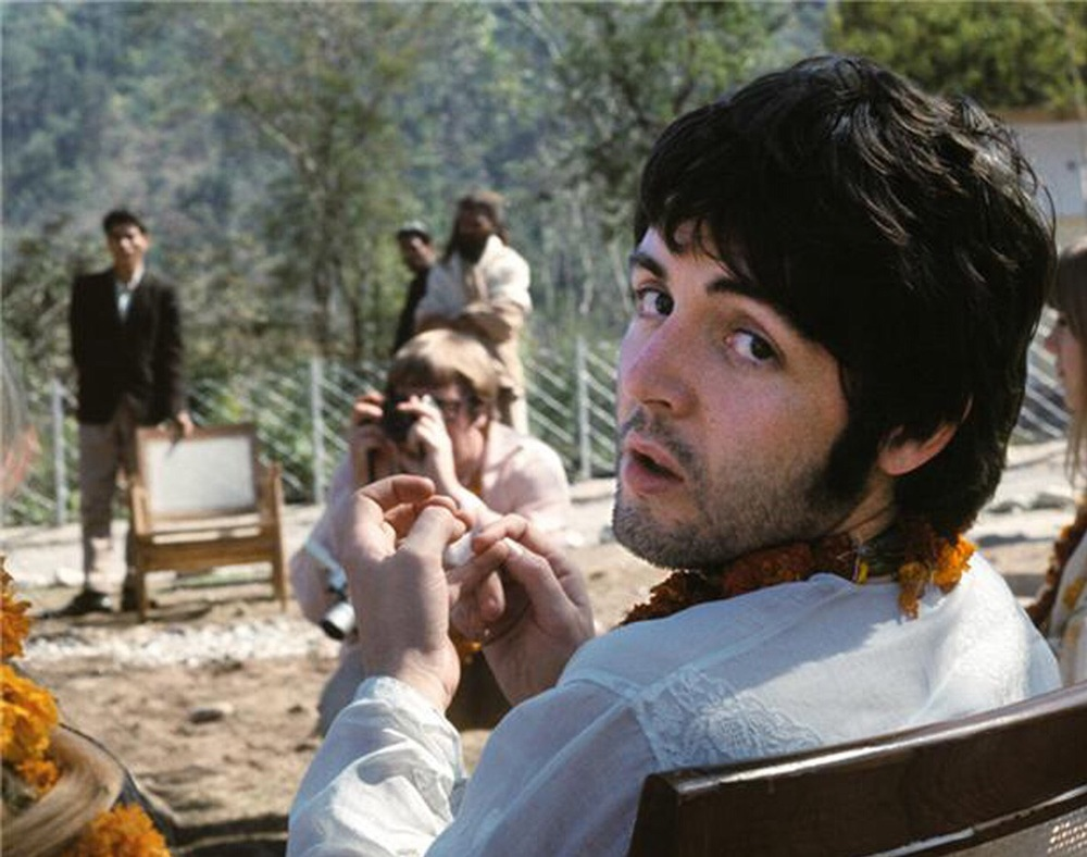 Paul McCartney in India, 1968.