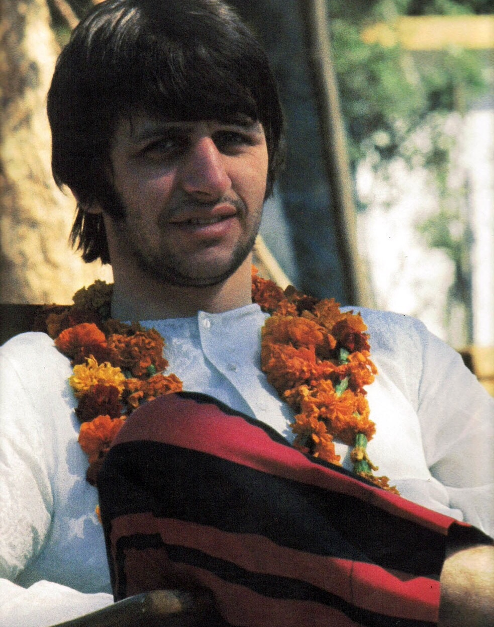 Ringo Starr brought a suitcase full of tins of beans to India, 1968.