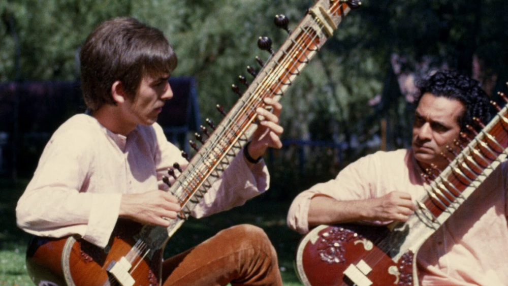 George Harrison and Ravi Shankar, circa 1966.