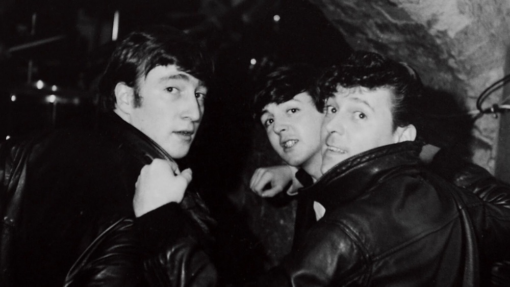 John Lennon and Paul McCartney at the Cavern, circa 1961.