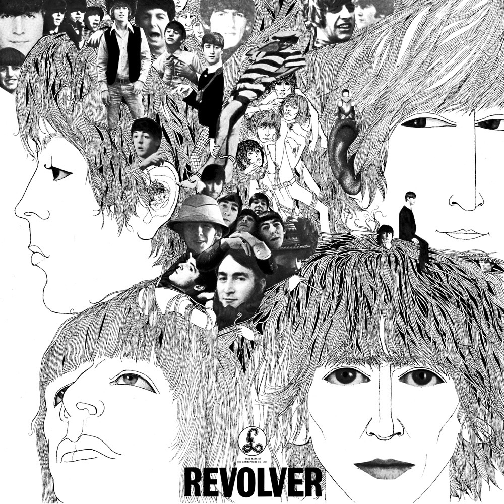 Revolver album cover designed by long-time Beatle friend Klaus Voormaan, 1966.