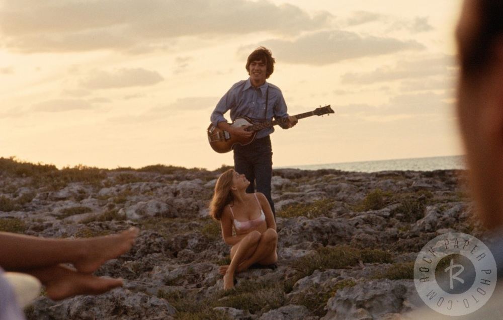 George Harrison filming Help! in the Bahamas, 1965.
