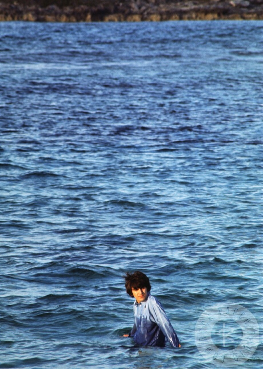 George Harrison on the set of Help! in the Bahamas, 1965.