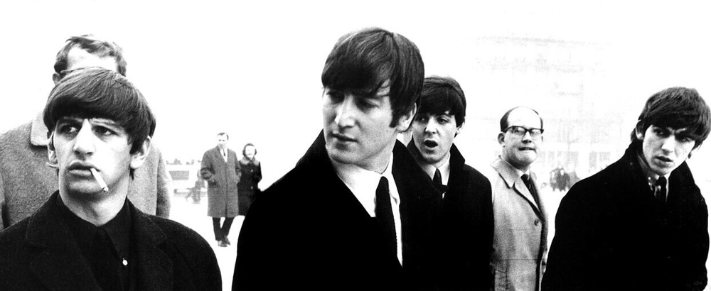T he Beatles sightseeing in Paris, January 1964.