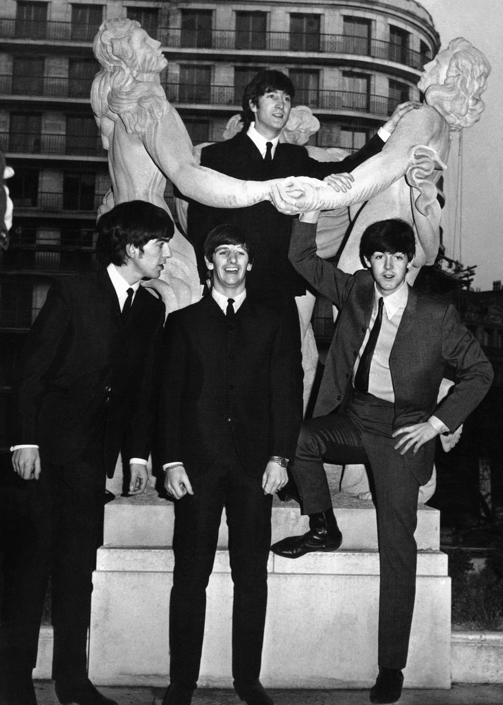 I want to hold your hand. The Beatles in Paris, January 1964.