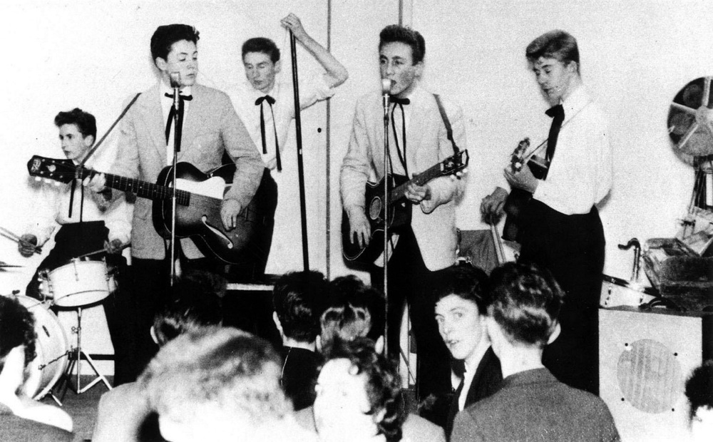 The Quarrymen with John Lennon and Paul McCartney, 1957.