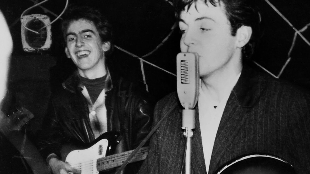 George Harrison and Paul McCartney circa 1960