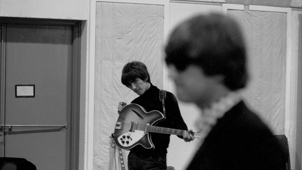George Harrison and John Lennon recording Beatles for Sale, 1964.
