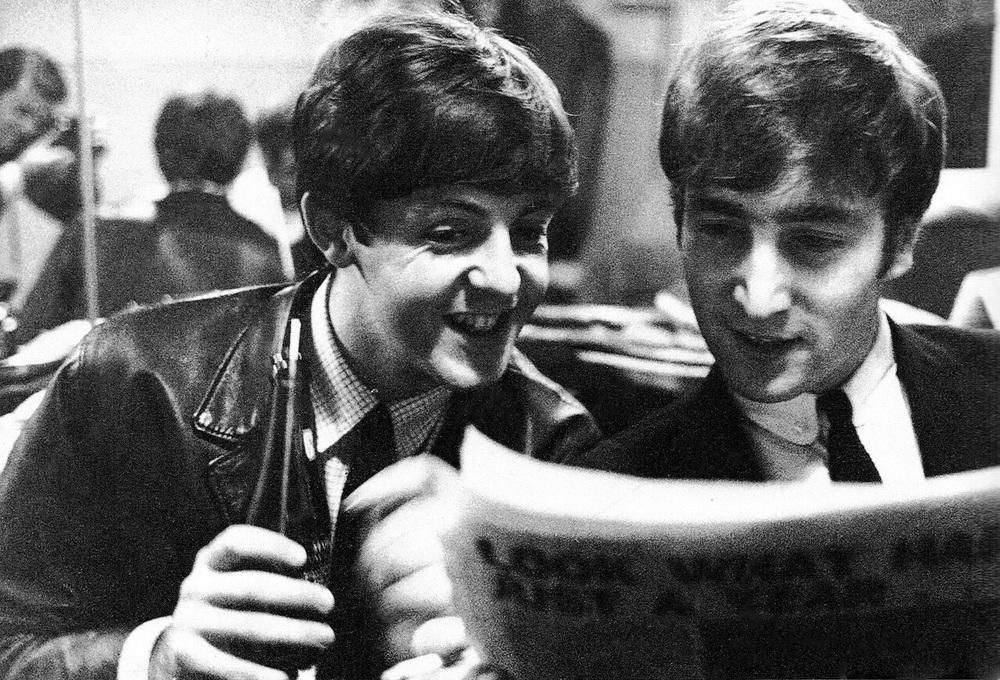 John Lennon and Paul McCartney 1964.