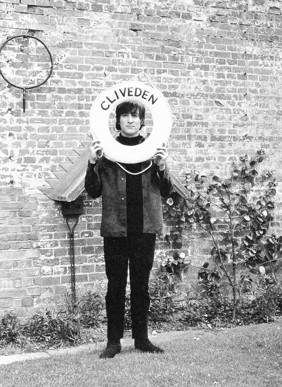 John Lennon at Cliveden House filming Help! 1965.