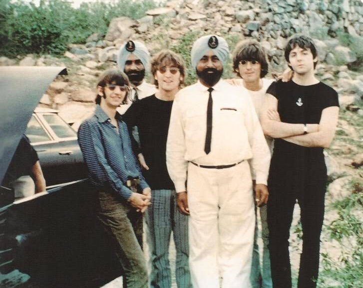 The Beatles in India, 1966.