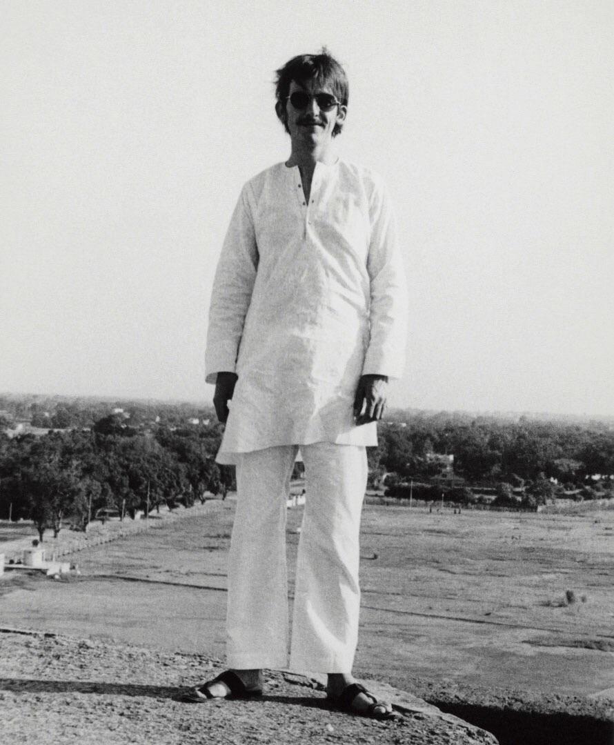 George Harrison in India, 1966.