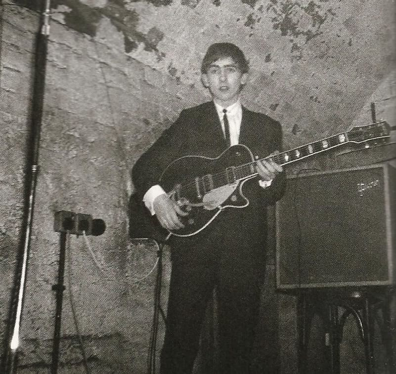George Harrison at the Cavern, circa 1961.