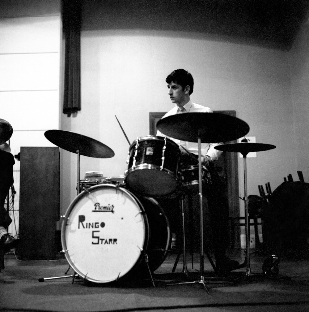 Ringo Starr At An Early Abbey Road Recording Session September 4th 1962