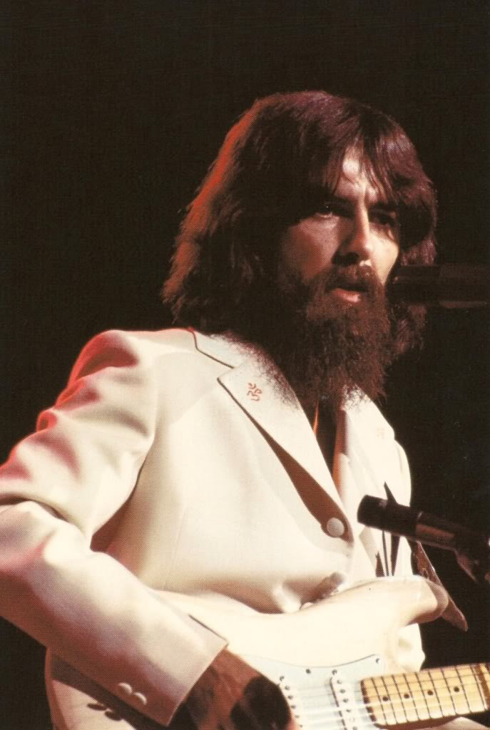 George Harrison at the Concert for Bangladesh, August 1st, 1971.