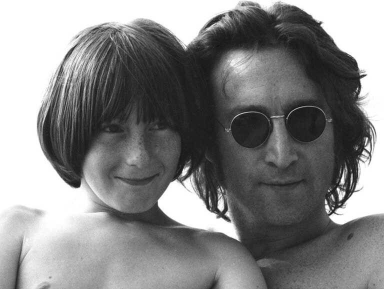 John and Julian Lennon, 1974.