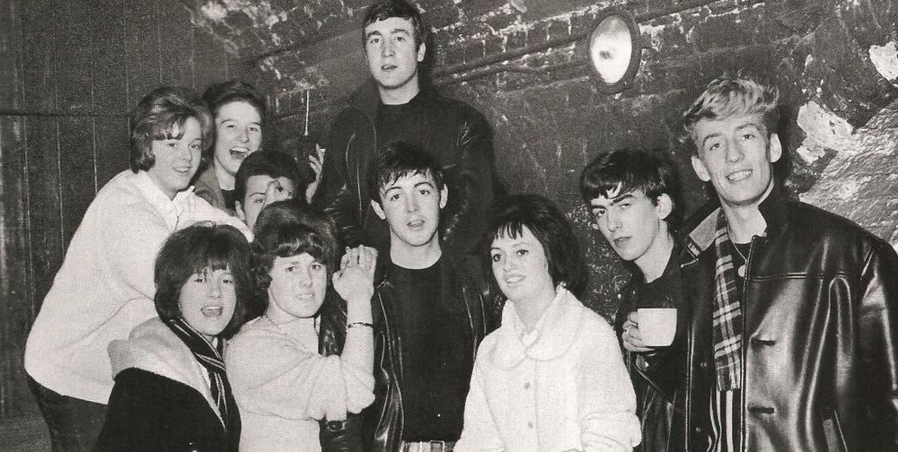 Early Beatles in the Cavern, circa 1962.