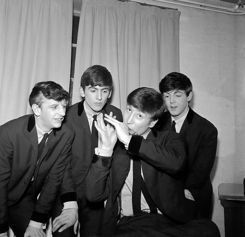 Early Beatles' photo shoot, 1962.